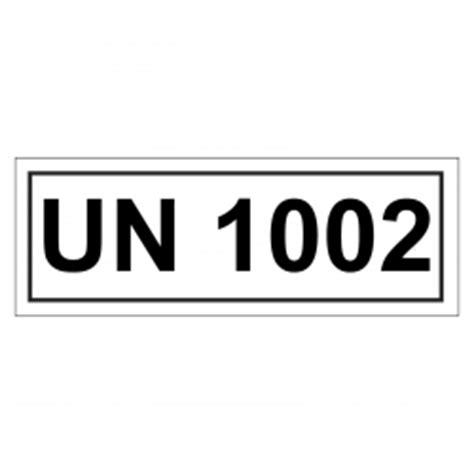 Un Aufkleber Bestellen by Un Verpackungskennzeichen Mit Un 1002 In Verschiedenen