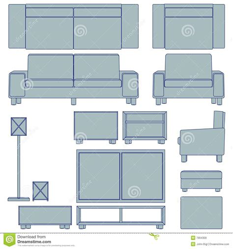 blueprint of a room blueprint living room furniture royalty free stock images image 7904309