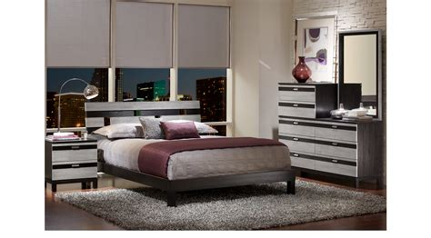 platform bedroom sets queen gardenia silver 6 pc queen platform bedroom contemporary