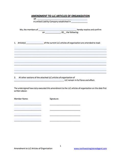 Articles Of Amendment Template Llc Articles Of Amendment Template