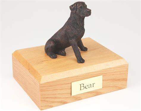 rottweiler cremation urn rottweiler bronze look cremation urn w wood storage box