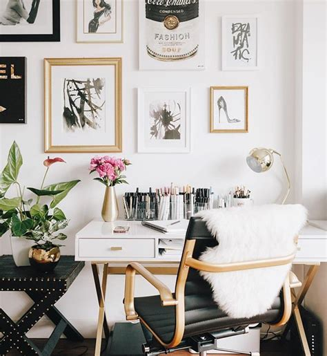 black and gold desk white and gold desk awesome best gold office ideas on