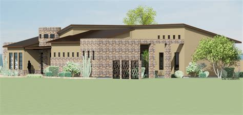 Contemporary Side Courtyard House Plan 61custom Custom Home Plans With Courtyard