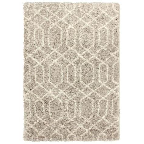 deco shag rug shop carpet deco loft shag 7x10 beige ironwork beige indoor area rug common 5 x 7 actual