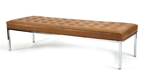 florence knoll leather bench modern furniture