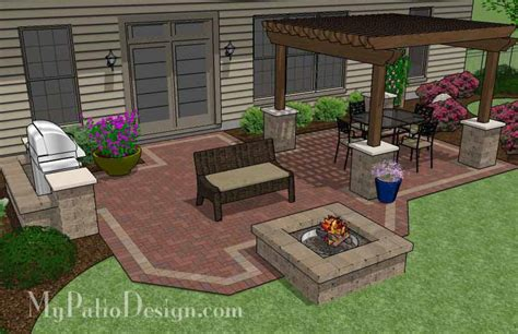 Patio Plans by Pergola Covered Unique Patio Tinkerturf