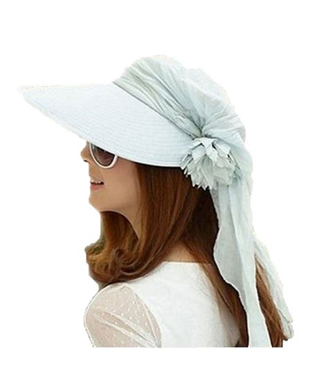 womens large brim folding outdoor sun visor hat roll up cap