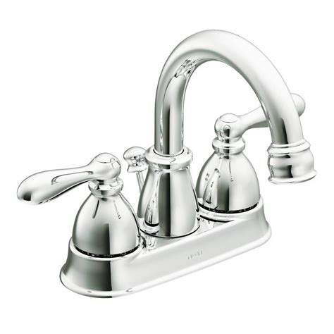 Chrome Bathroom Faucets by Shop Moen Caldwell Chrome 2 Handle 4 In Centerset