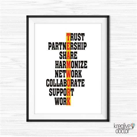 printable teamwork quotes office wall art success quotes printable office quotes canvas