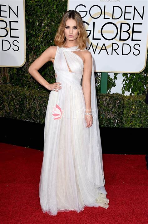 White At The Golden Globes by White Tulle One Shoulder Carpet Dress