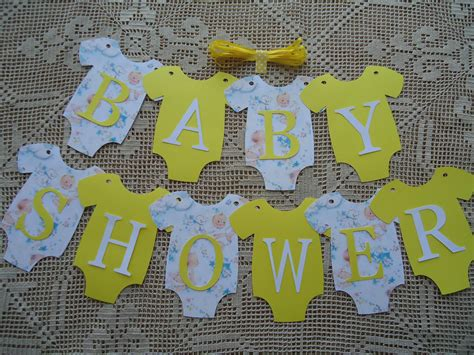 10 bunting flags banners garland baby shower yellow unisex diy decor ebay