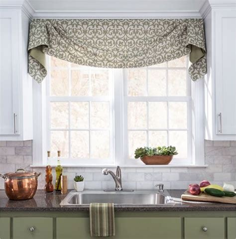 kitchen window valances ideas you can add more life and shading to a dull looking window