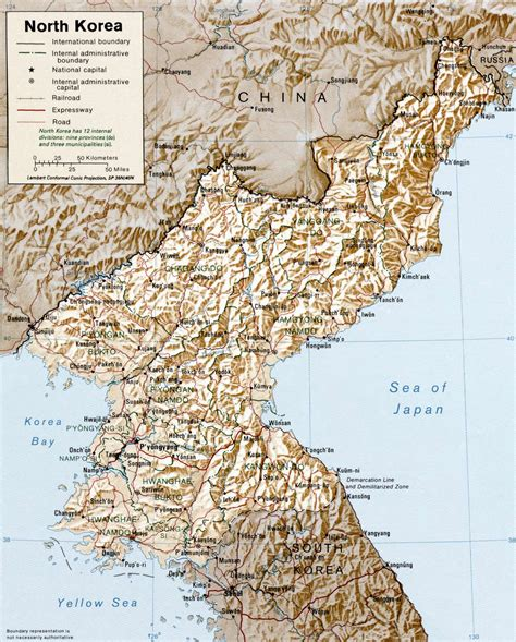 5 themes of geography north korea north korea physical map mapsof net