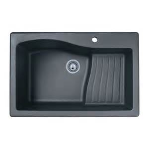 Undermount Kitchen Sinks At Lowes Shop Swan Single Basin Drop In Or Undermount Granite Kitchen Sink At Lowes