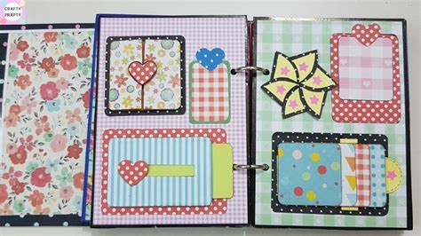 How To Make A Scrapbook With Paper - scrapbook mini book with pockets using only one sheet of