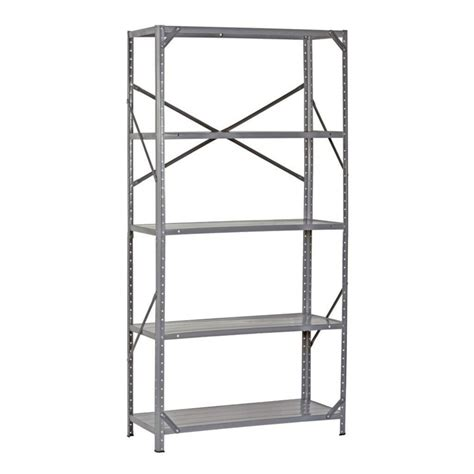 edsal 36 in w x 12 in d x 72 in h gray heavy duty steel