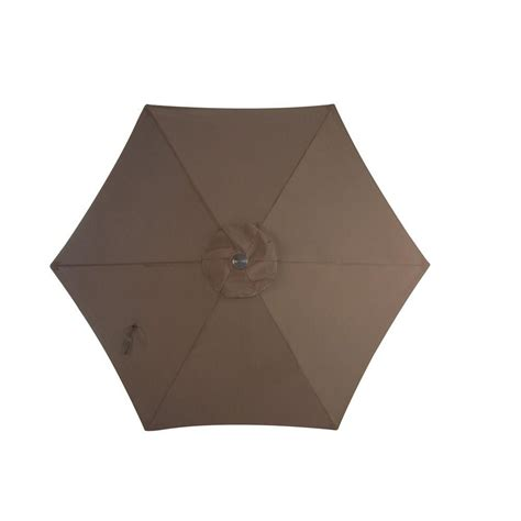 Martha Stewart Patio Umbrellas Martha Stewart Living Grand Bank 9 Ft Patio Umbrella In Brown D4067 U The Home Depot