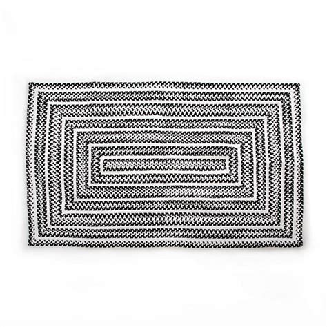 black and white braided rug mackenzie childs crayon braided rug 3 x 5 black white