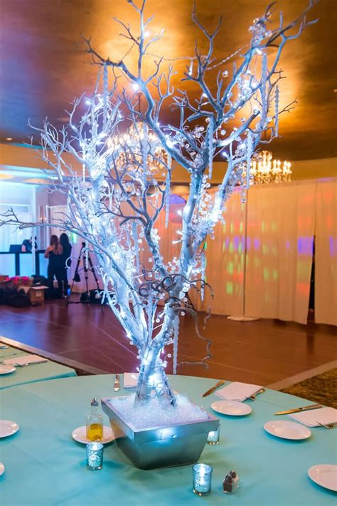 winter wedding tree centerpieces winter tree centerpiece my wedding tree