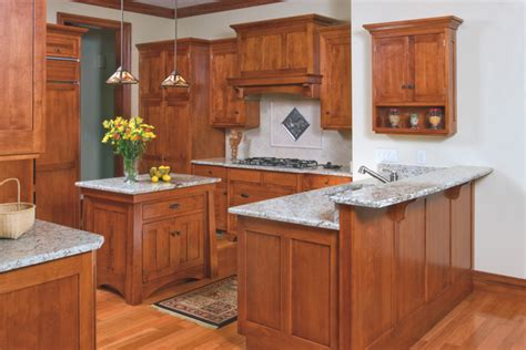 Mission Cabinets Kitchen Mission Style Birch Kitchen Craftsman Kitchen Cleveland By Schrocks Of Walnut Creek