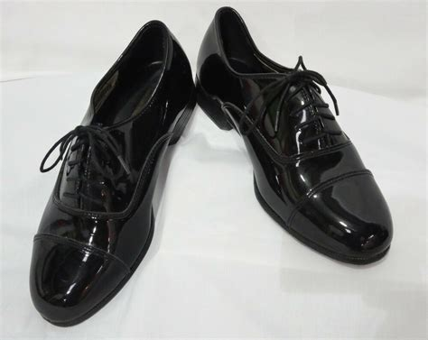 size 9 wide mens black perry ellis cap toe lace up oxfords tuxedo shoe formal ebay