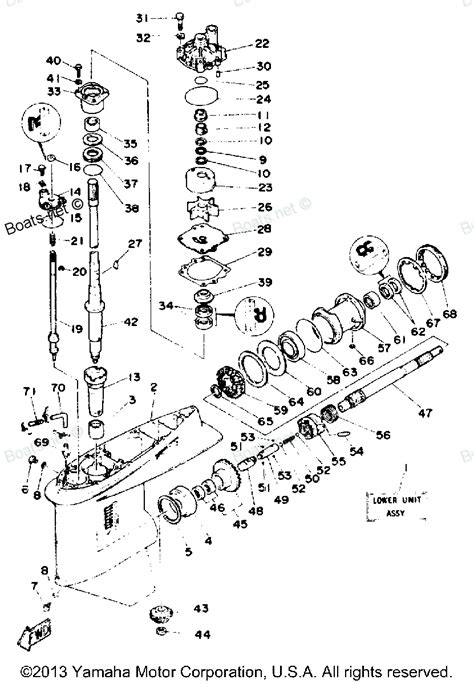 yamaha lower unit diagram yamaha outboard lower unit diagram images