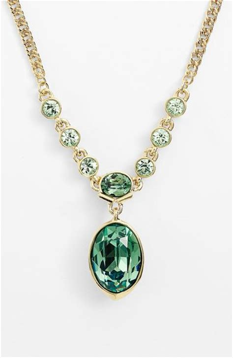 givenchy remsen pendant necklace in green erinite