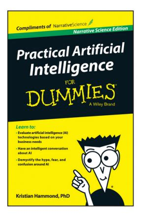 practical artificial intelligence for dummies book review tunguz review technology