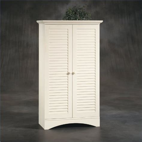 storage cabinet in antiqued white computer armoire white