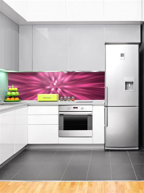 designer kitchen splashbacks pink vortex designer acrylic splashback wow