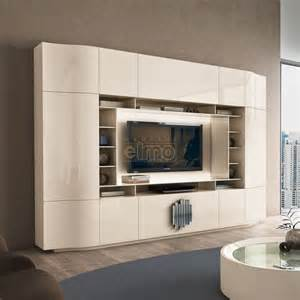 meuble tv living design moderne portes push laque