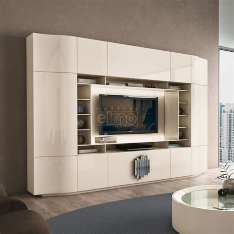 linving tv meuble tv living design moderne portes push laque