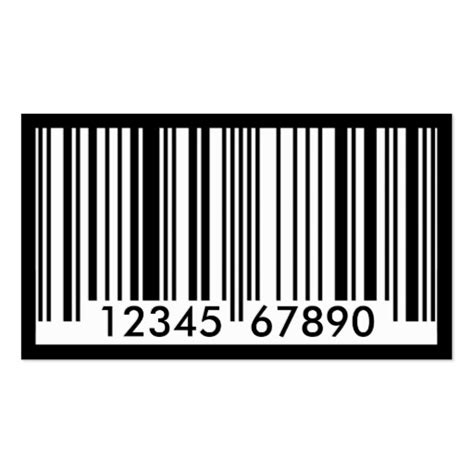 barcode business card templates barcode identification sided standard business