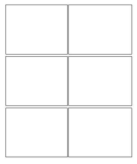 printable box art six box template blank comic strip template ideas for
