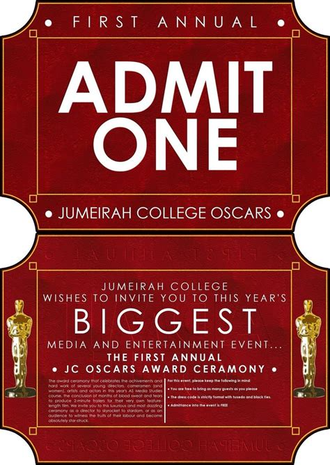 jumeirah college oscars invite by gnu32 on deviantart