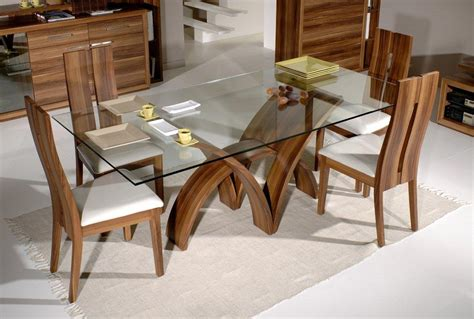 Design Of Dining Table 20 Amazing Glass Top Dining Table Designs