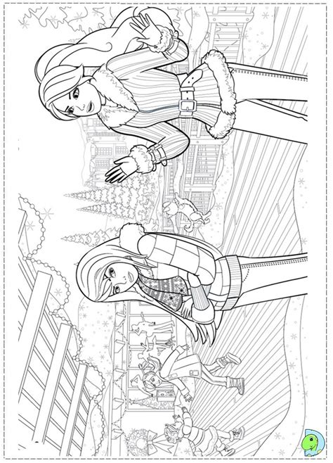free coloring pages of barbie christmas
