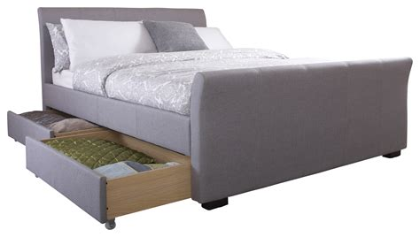 dresden 4 ft 6 drawer storage bed hannover 4ft6 double fabric 4 drawer storage bed silver