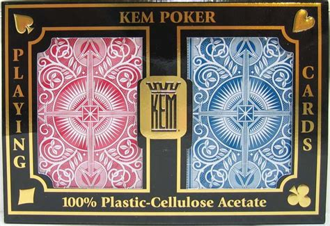 kem arrow playing cards redblue poker size regular index wide p