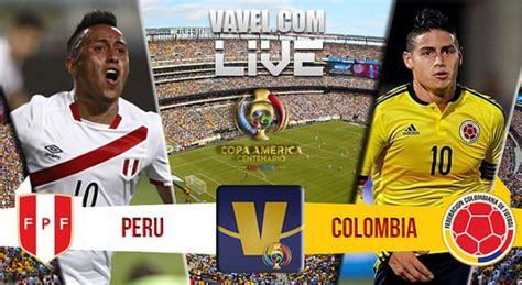 score colombia vs peru in copa america centenario