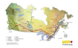 rail map canada cafechoo image via rail canada map