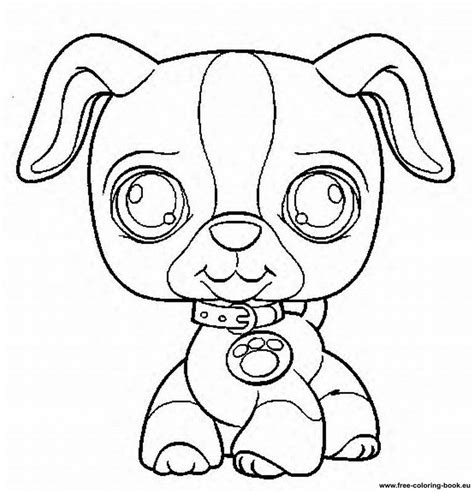 coloring pages of littlest pet shop dogs littlest pet shop coloring pages dog coloring home