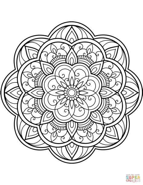 coloring pages mandala flower mandala coloring page free printable coloring pages