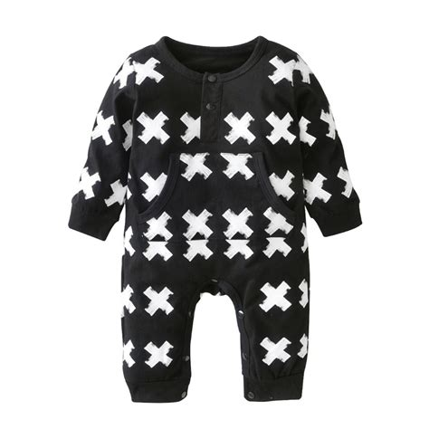 black and white pattern romper baby registry list nursery design studio