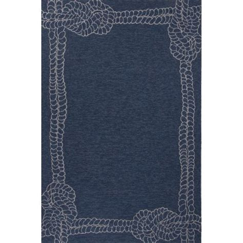 Outdoor Rug 6x9 Jaipur Indoor Outdoor Coastal Pattern Blue Ivory Polypropylene Area Rug 7 6x9 6