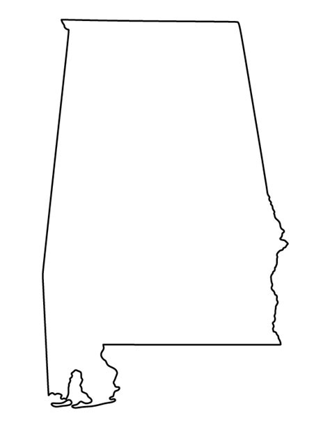 template of state alabama pattern use the printable outline for crafts creating stencils scrapbooking and more