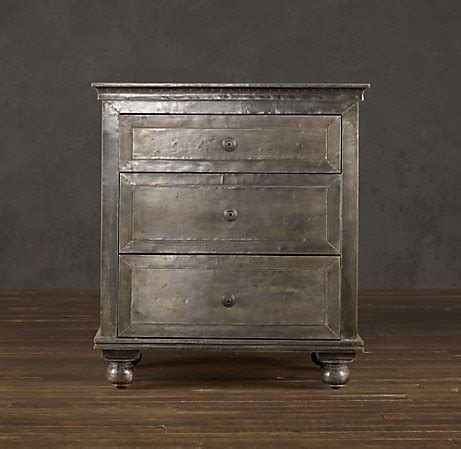 Restoration Hardware Nightstands by Restoration Hardware Zinc Closed Nightstand Bedroom