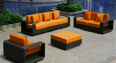 Furniture Rental Orlando by Wicker Furniture With Orange Cushions Event