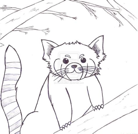 red panda cartoon coloring coloring pages