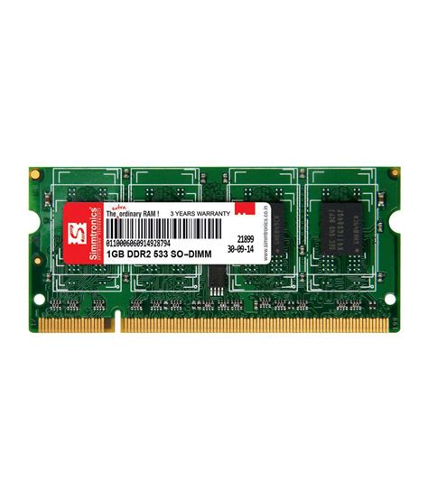 Ram Laptop Ddr3 1gb simmtronics 1gb ddr3 1333mhz laptop ram buy simmtronics